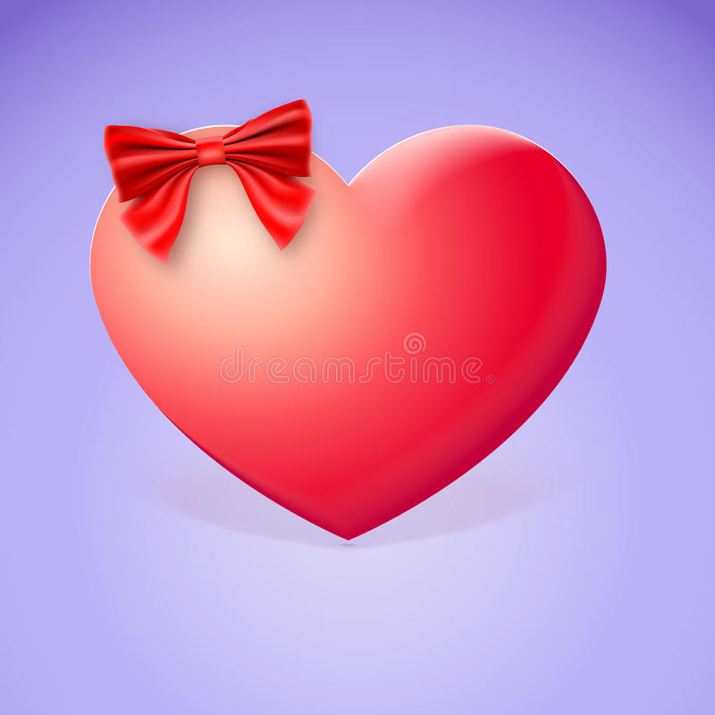 Download Heart With Red Bow Royalty Free Stock Photography - Image: 37663427