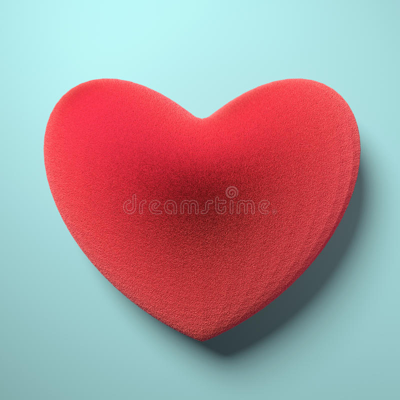 Heart from red fur stock illustration