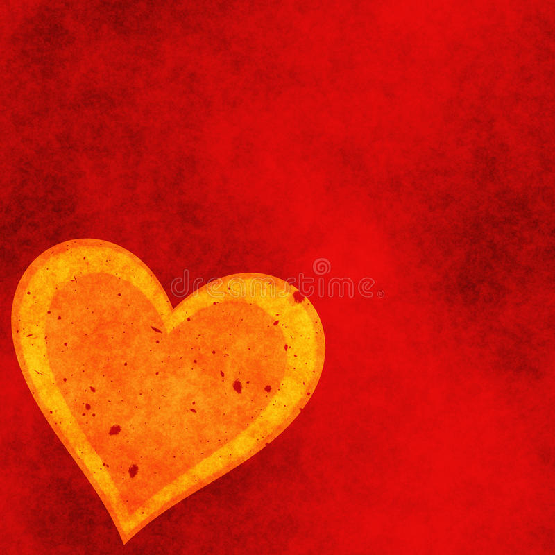 Heart on a red grunge background. Love symbol royalty free illustration