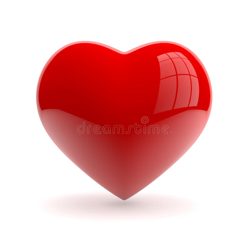 Heart. Red heart isolaed on white background royalty free illustration
