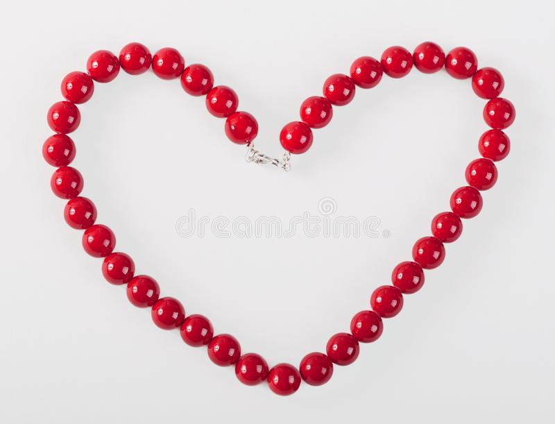 Download Heart From Red Mardi Gras Beads Stock Image - Image of heart, string: 8663145