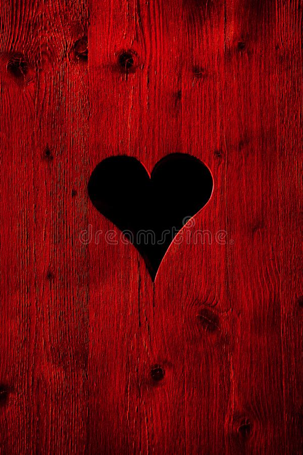 Heart in red old vintage wood royalty free stock photos