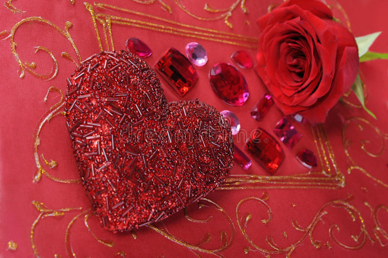 Download Heart and red rose stock photo. Image of color, beautiful - 18359506