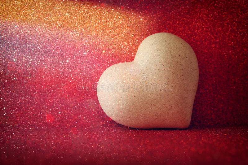 Download Heart On Red Shiny Background Stock Photo - Image: 83703524
