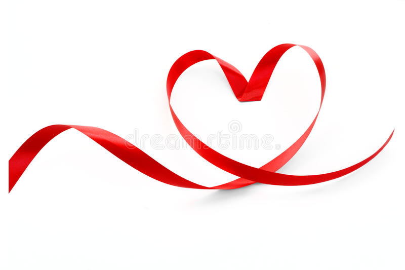 Heart a red tape. The Heart a red tape royalty free stock photos