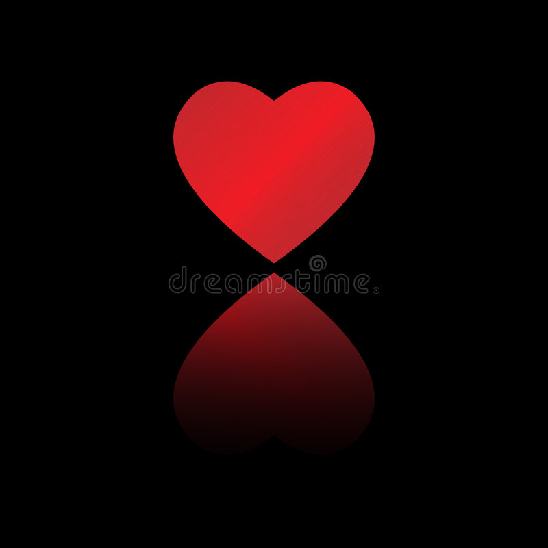 Download Heart reflection stock vector. Image of card, marriage - 7496593