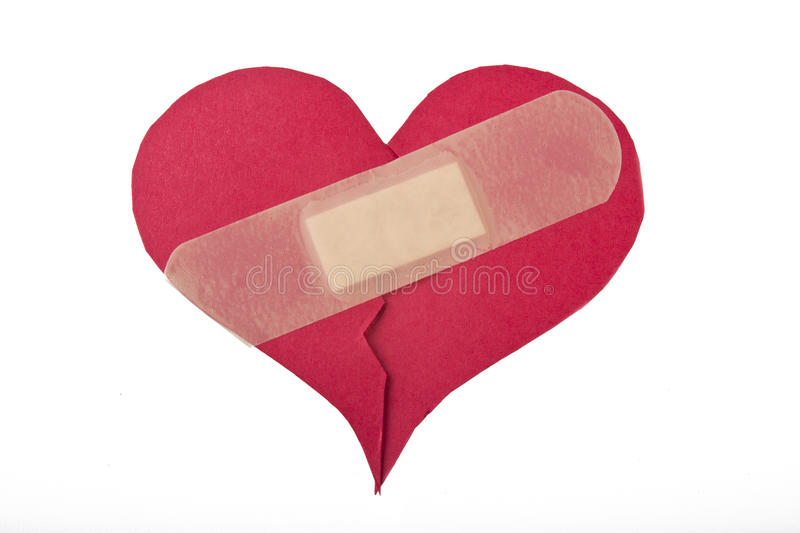 Download Heart repaired by bandaid stock photo. Image of holiday - 28501098
