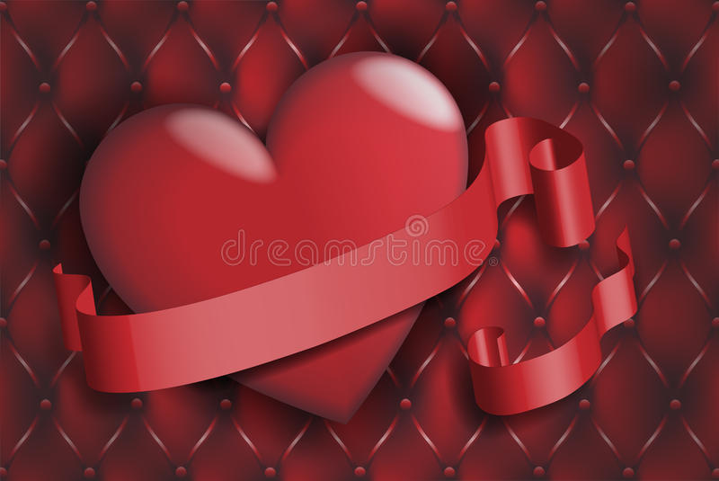 Download Heart and ribbon stock vector. Image of highlight, decoration - 22871458