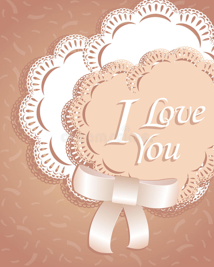 Heart ribbon and laces greeting card. postcard. sweet love valentine card. raster version. Heart ribbon and laces greeting card. valentine card. raster version vector illustration