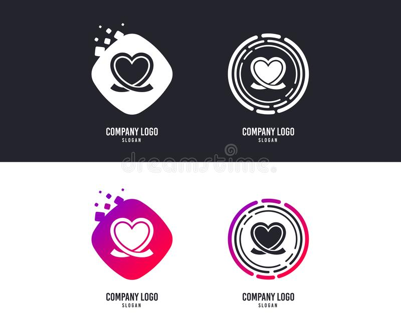 Heart ribbon sign icon. Love symbol. Vector. Logotype concept. Heart ribbon sign icon. Love symbol. Logo design. Colorful buttons with icons. Vector vector illustration