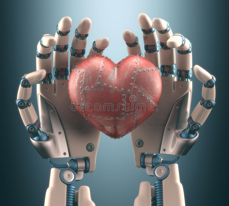 Heart Robot royalty free stock image