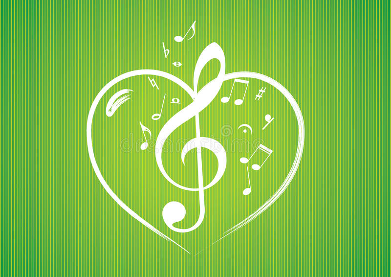 Download Heart rom musical notes stock vector. Illustration of image - 23875199