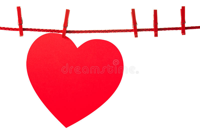 Heart on rope stock photo