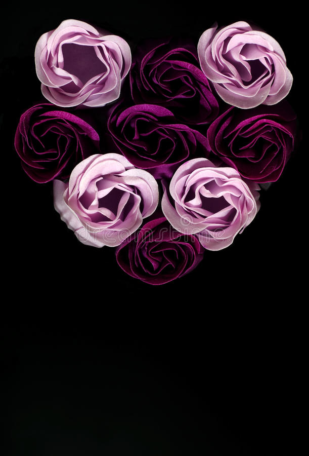 Heart of roses. Abstract love themes royalty free stock photo