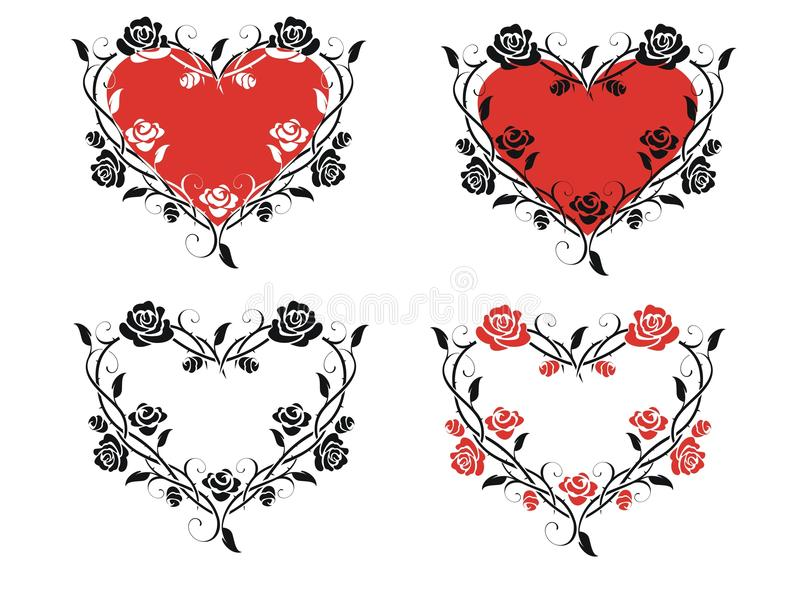 Heart of roses royalty free illustration
