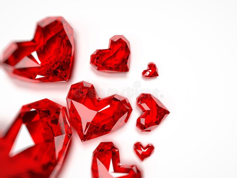 Heart Rubies Royalty Free Stock Photo