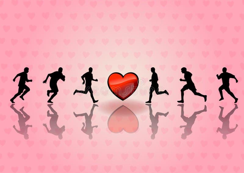 Heart Runners Stock Photos