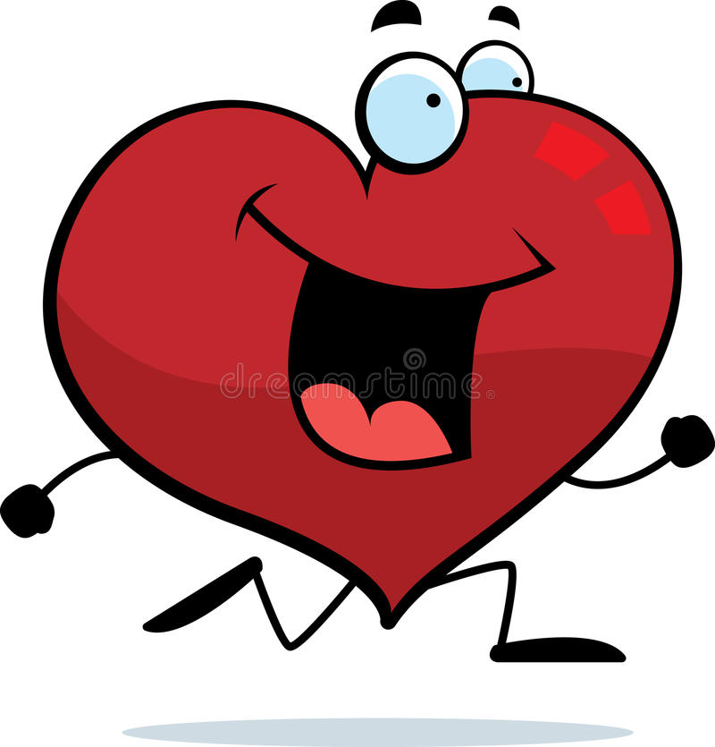 Download Heart Running stock vector. Image of smiling, happy, valentine - 10978225