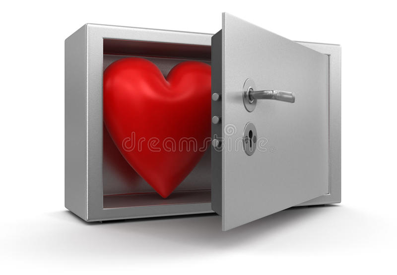 Heart in Safe (clipping path included)