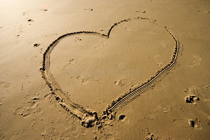 Download Heart On The Sand Stock Images - Image: 175084