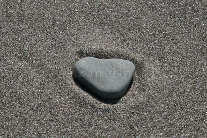 A heart in the sand stock photography