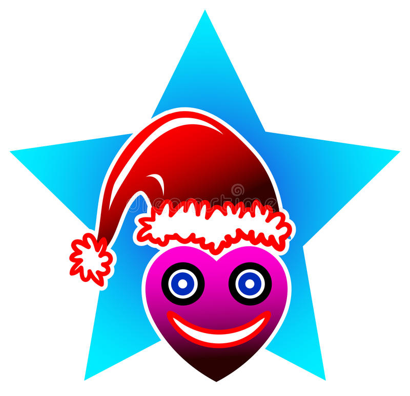 Heart Santa Stock Image