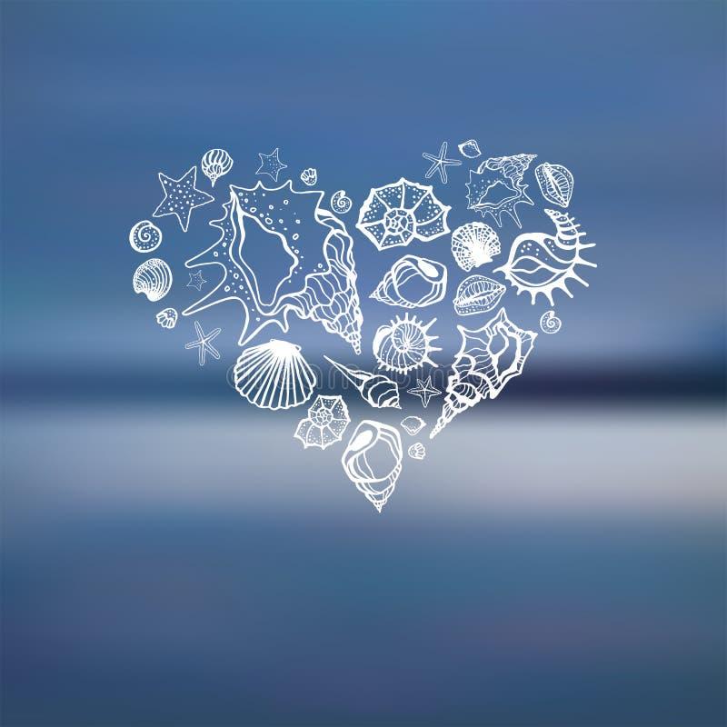 Download Heart Of Sea Shells.  Summer Holidays. Stock Illustration - Illustration of landscape, dream: 39504837
