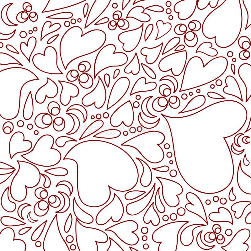 Heart seamless pattern stock illustration