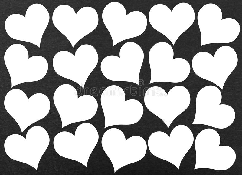 Heart seamless pattern. On black background royalty free illustration