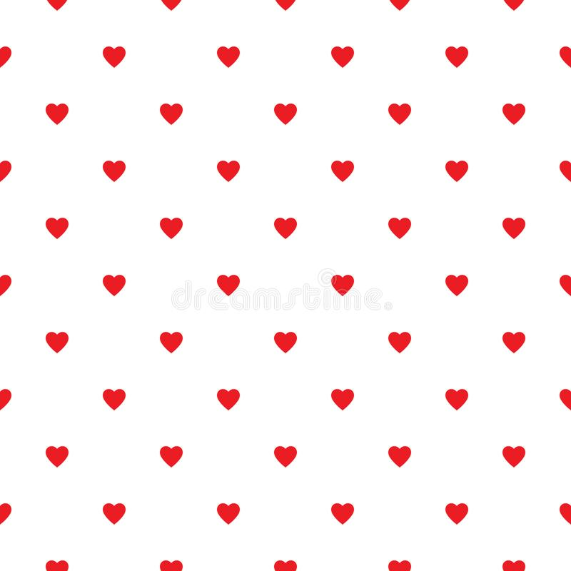 Heart seamless pattern, endless texture. Red hearts on white background, vector illustration. Valentine`s Day Pattern. Anniversary vector illustration