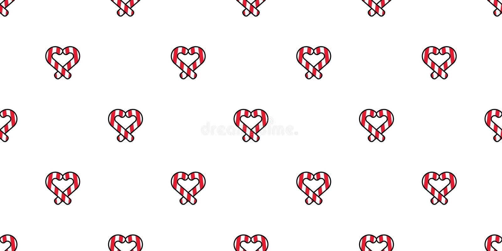 heart seamless pattern valentine christmas vector candy cane cartoon scarf isolated tile background repeat wallpaper doodle illust 163795757