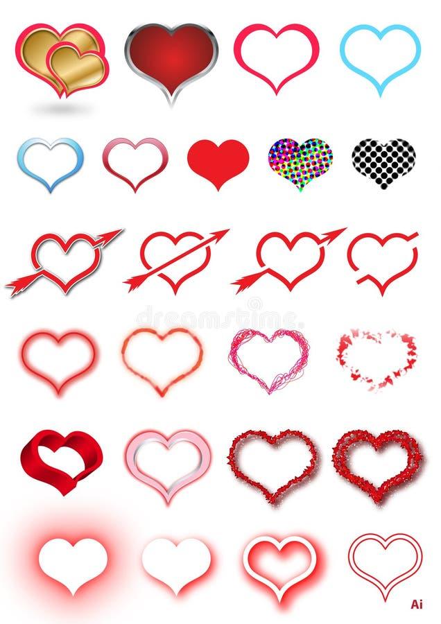 HEART SET royalty free illustration