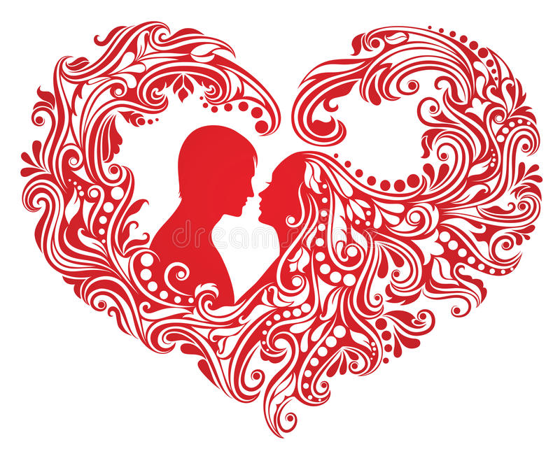 Heart shape. vector illustration