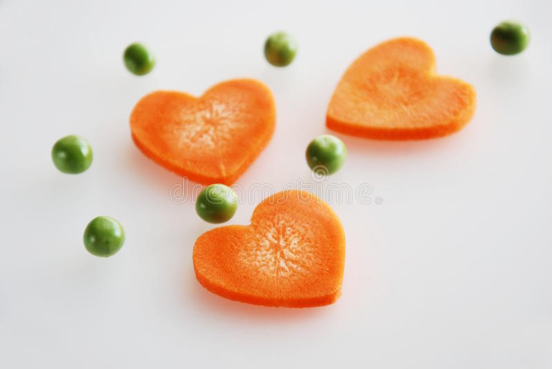 Heart shape of carrot royalty free stock image