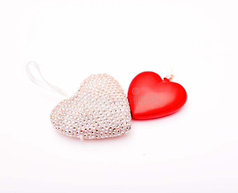 Heart shape christmas decoration item. Image of a royalty free stock images