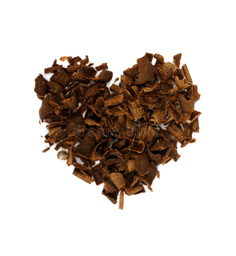 Download Heart Shape Concept, Chocolate Shavings. Stock Photo - Image: 12938364