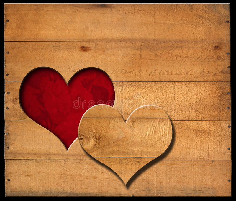 Download Heart Shape Cut On Old Wooden Boards Stock Photo - Image: 34693520