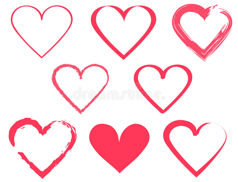 Heart Shape Design For Love Symbols Stock Vector Illustration Of
