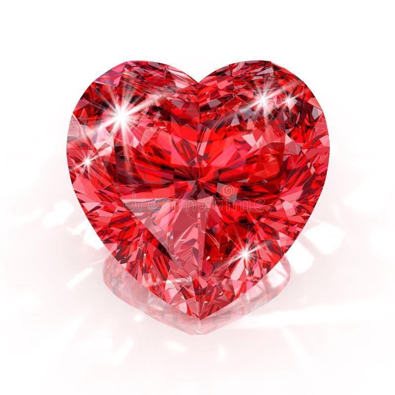 Heart shape diamond royalty free stock photo