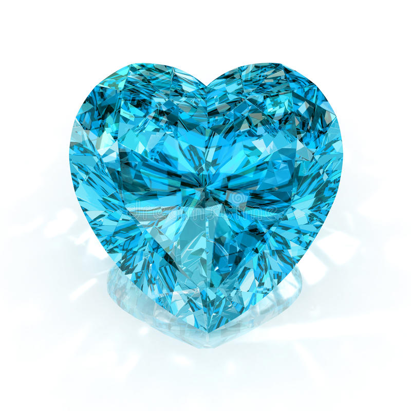 Download Heart shape diamond stock image. Image of nobody, render - 14228881