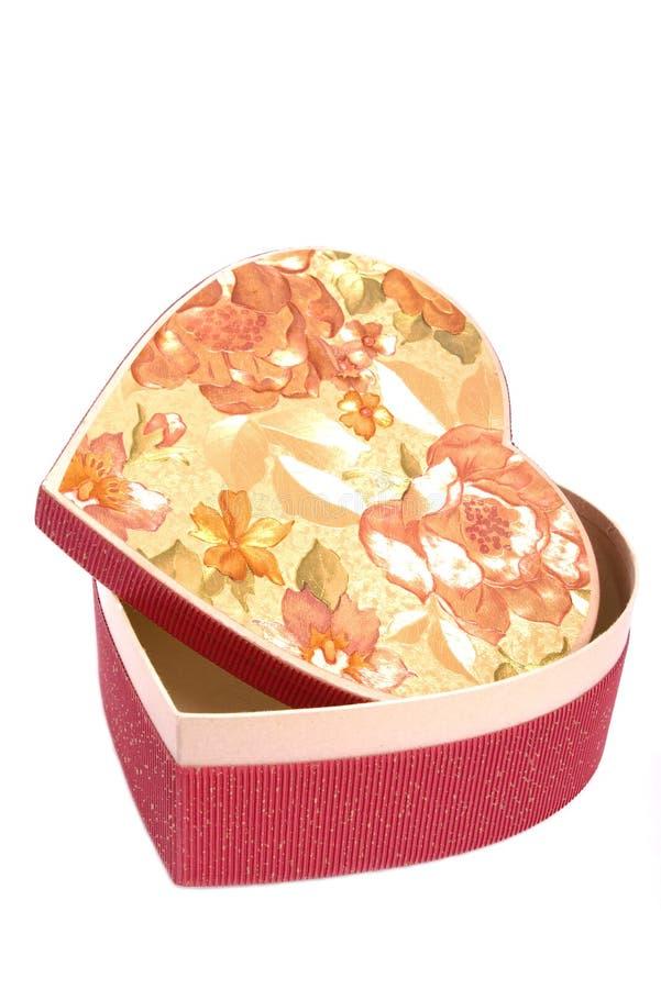 Heart shape gift box stock images