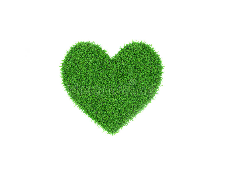 Heart shape Grass with cracked land vector illustration