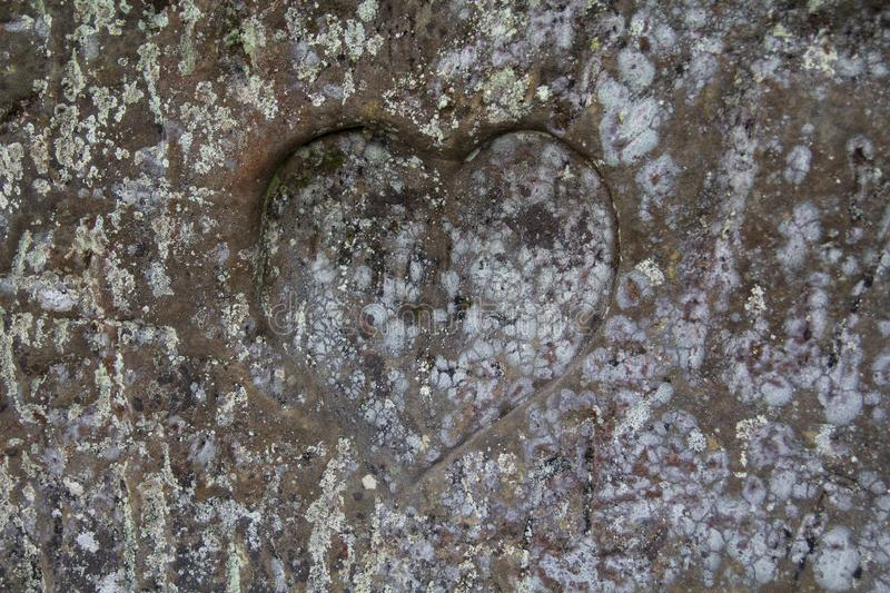 Heart In A Rock royalty free stock photography