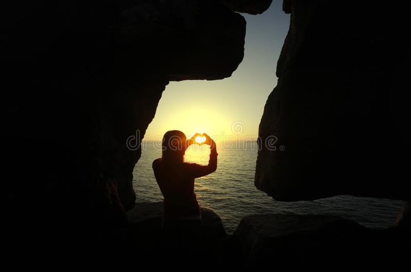 Download Heart Shape Made With A Girl Hands Stock Photo - Image: 14624840