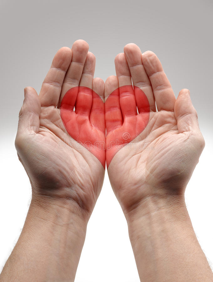 Download Heart Shape in male hands stock image. Image of finger - 28530421