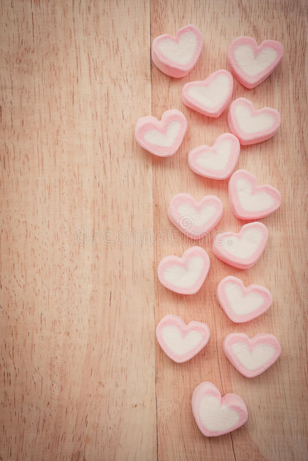 Heart shape marshmallow stock photo