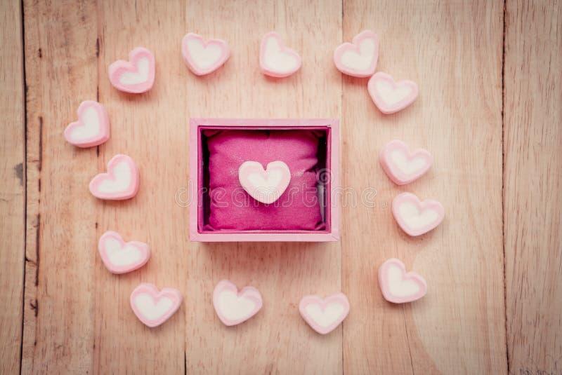 Heart shape marshmallow stock photography
