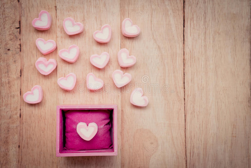 Heart shape marshmallow royalty free stock photography