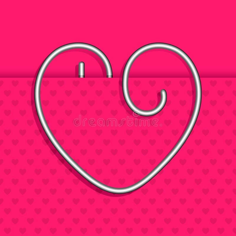 Download Heart Shape Paper Clip stock vector. Image of fastener - 25598978