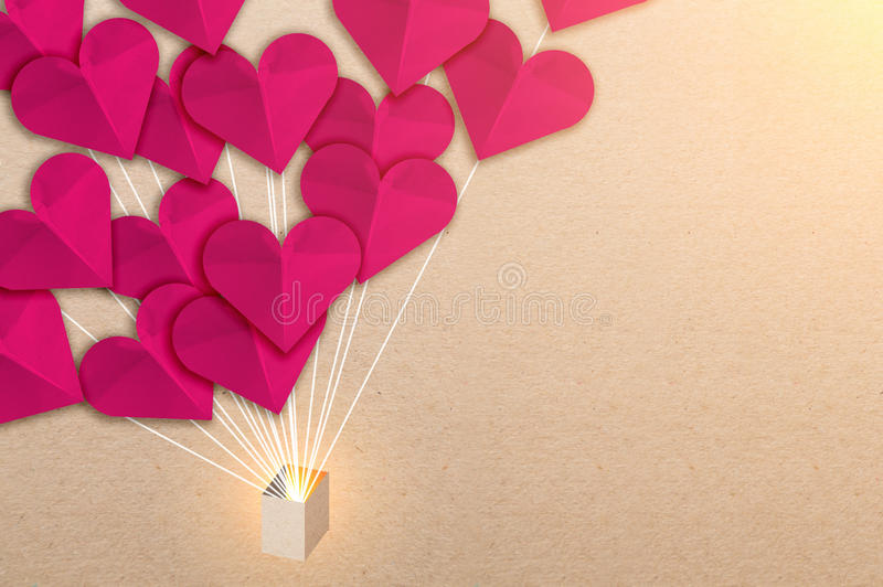 Line Drawing Heart Shape : Heart shape paper cut on background stock image of